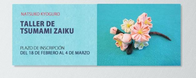 TALLER DE TSUMAMI ZAIKU – NATSUKO KYOGURO. INSCRIPCIÓN: DEL 18 DE FEBRERO AL 4 DE MARZO