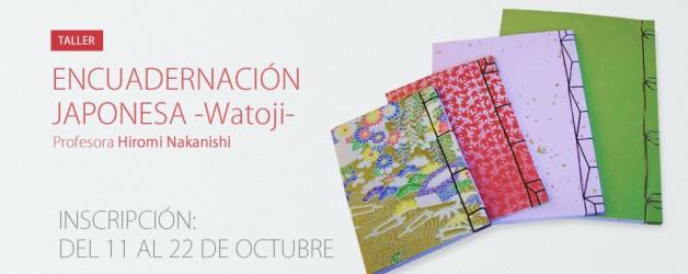 Taller de Encuadernación japonesa – Watoji –  Hiromi Nakanishi