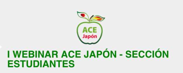 I WEBINAR ACE JAPÓN – SECCIÓN ESTUDIANTES. 9 de septiembre